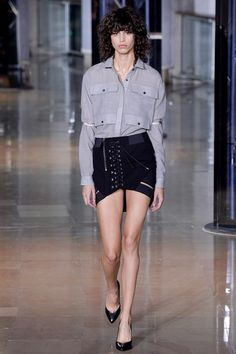 #pfw : this is what we call a minishirt (Anthony Vaccarello) - sophieabriat