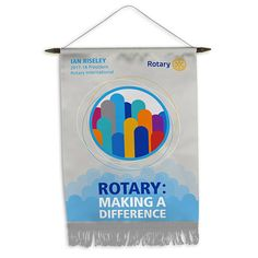 Russell-Hampton Co. Rotary Club Supplies: 2017-18 Theme Trading Banner, 8-inch x 12-inch