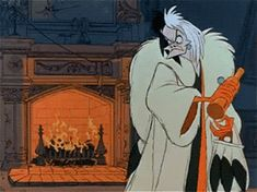 That time Cruella was staging a much needed intervention for you. Disney Pixar, Disney Jokes, Old Disney, Disney Villains, Strong Female Characters, Dreamworks Movies, Cruella Deville, Gifs, Cute Halloween Costumes