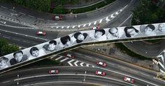Essa street art não é britânica (é do artista francês JR em Hong Kong), mas vale pela matéria do site da BBC Travel!