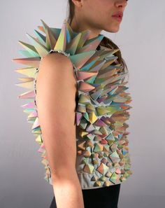 PASTEL STUD VEST. $950.00, via Etsy. Who would legitimately wear this, I mean come on.