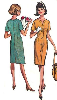 1960s Dress Pattern #McCall's Vintage Back Zip Misses by SelmaLee