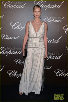 Charlize Theron Presents Anya Taylor-Joy With Chopard Rising Star Trophy