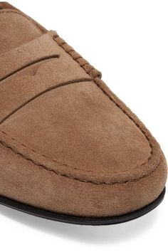 Tod's - Gommino Suede Loafers - Beige - IT36.5