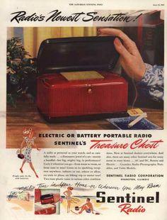 Sentinel Radio Corporation's Electric or Battery Portable Radio – Radio's Newest Sensation (1947)