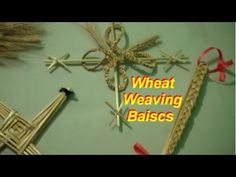 Wheat Weaving: Getting Started Basics - In order to weave with wheat, there are a few basics things that will be required for any weaving y - Straw Weaving, Paper Weaving, Weaving Art, Basket Weaving, Craft Tutorials, Craft Projects, Craft Ideas, Crafts To Make, Fun Crafts