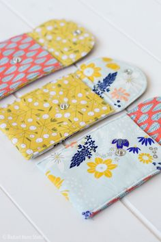 This is a quick and easy project—waxed canvas gift pouches. They are just the right size to wrap gift cards or jewelry, or sew them for craft fairs.