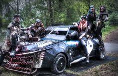Post Apocalypse -  anja livingdreaddoll  - Wasteland car Post Apocalyptic by Fase 3 LARP wastelanders raiders female warriors