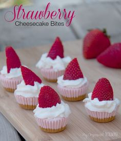 Mini Strawberry Cheesecake Bites recipe, Canadian lifestyle blogger My Organized Chaos