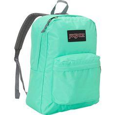 JanSport SuperBreak Backpack (€27) ❤ liked on Polyvore featuring bags, backpacks, green, school & day hiking backpacks, backpacks bags, green bags, pocket bag, jansport daypack and rucksack bag