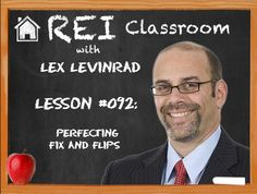 In the classroom today, Lex Levinrad explains what kind of neighborhood is best for purchasing a home for fix and flips. Also, learn how to find out about these homes from wholesalers.