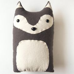 Wolf Woodland Plush Stuffed Animal Pillow - Liam - Made to Order. $35.00, via Etsy.