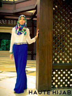 Classy Draped Square Scarf Tutorial by Melanie – Haute Hijab