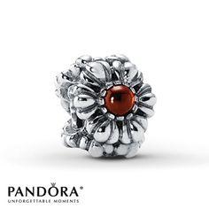 Pandora Bloom January Garnet Charm - $65