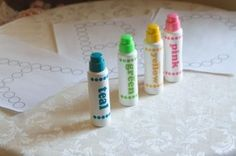 Simply Montessori: Do-A-Dot Marker Activities  Free Printables! letters, shapes, pictures, sight words, etc.