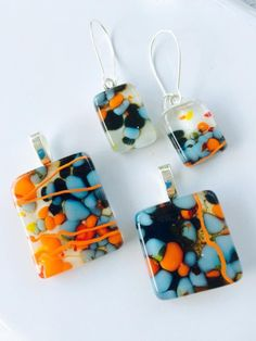 Image result for what kind of jewelry can be made from fused glass dots