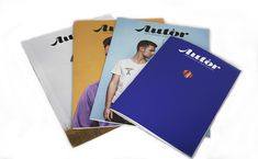 The four Issues of AUTOR Magazine.