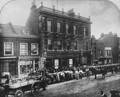 Greetings Card-The Old George at 379 Bethnal Green, London, England-Photo Greetings Card made in the USA Gothic, Bethnal Green, Old London, Photographic Prints, London England, Drink Cart, Poster Size Prints, Brewery, Large Crowd