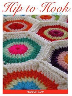 Hexagon motif pattern by Sarah London