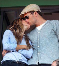 Tom Brady and Gisselle Bundchen.