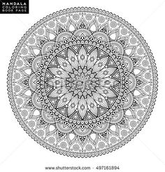 Flower Mandala. Vintage decorative elements. Oriental pattern, vector illustration. Islam, Arabic, Indian, moroccan,spain, turkish, pakistan, chinese, mystic, ottoman motifs. Coloring book page - buy this vector on Shutterstock & find other images.