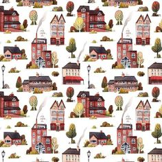 Finished pattern  no 2 🌳🏡🌳🏡 because so many asked: i painted elements traditional with watercolors, scanned them and used photoshop for making the pattern (its really easy to make,because PS has a pattern function). Unfortunality my photoshop is german its difficult to explain how i did it in english but i am sure there are already tutorials in english out there. And thank you for all the patience for re-opening my etsy store. I hope i will get the prints this week then i can open the…
