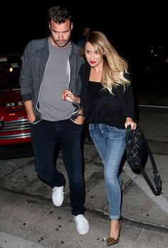 Lauren Conrad and fiance William Tell enjoyed a dinner date in West Hollywood.