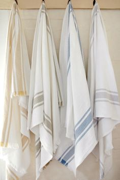 Our signature flat weave towels. Woven from the premium cotton & linen at the Mungo Mill. Dish Towels, Hand Towels, Warm Colors, Colours, Pool Towels, Linens And Lace, Guest Towels, Turkish Towels, Dream Bathrooms