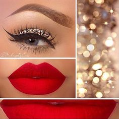 Festive Christmas Makeup Ideas ★ See more: http://glaminati.com/festive-christmas-makeup-ideas/