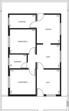 House Layout Plans, Duplex House Plans, House Layouts, 4 Bedroom House Plans, House Floor Plans, Bungalow Floor Plans, Simple House Plans, Best House Plans, 20x40 House Plans