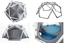 空気が骨組みのエアフレームテントTHE CAVE。近未来的な外観はまるで宇宙基地。キャンプサイトで一際目立つ秀逸なデザインでかっこいいテント。