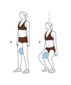 Inner Thigh Workout Move: Squat With Ball, this is very similar to barre but much easier