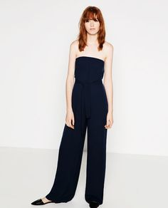 Image 1 of STRAPLESS JUMPSUIT from Zara