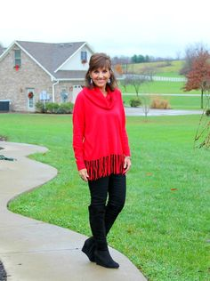 Sharing this classic red sweater that's perfect for Christmas! It's on sale during Macy's Friends & Family Sale. ‪#‎ad‬