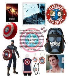 """""""Civil war: captain should win"""" by cyborgpuppyprincess ❤ liked on Polyvore featuring women's clothing, women's fashion, women, female, woman, misses and juniors"""