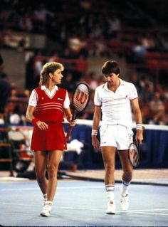 Playing mixed doubles with Jimmy Connors in 1984
