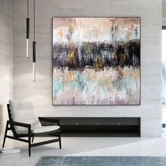 Original Abstract Art Large Wall Decor Abstract Painting image 8 Modern Oil Painting, Large Painting, Office Wall Art, Home Wall Art, Colorful Artwork, Extra Large Wall Art, Modern Wall Decor, Texture Art, Contemporary Art