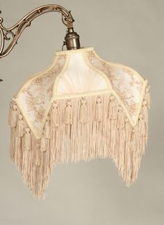 Beige And Champagne Uno Victorian Fringed Lamp Shade Www Myrlg Lampshades