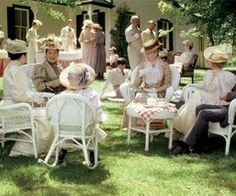 The delightful church picnic at the Barry farm in Anne of Green Gables.