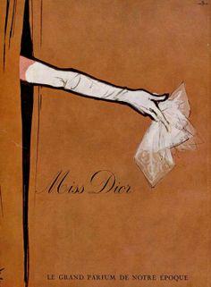 Miss Dior vintage perfume advert