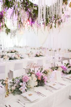 Gorgeous Cape Town Wedding at Cavalli Wine Estate featuring gorgeous white decor and lush hanging greenery, and a bride in a tiara. Luxury Wedding Decor, Wedding Themes, Chic Wedding, Wedding Designs, Wedding Table, Wedding Colors, Wedding Styles, Wedding Flowers, Wedding Venues