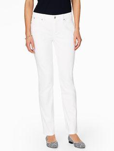 The Flawless Five-Pocket Straight Leg Jean - White - Talbots