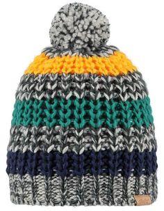 Barts - Grey-yellow-green Ayad gradient hat - Pepatino.be