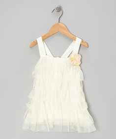 Love this C'est Chouette Cream Ruffle Tiered Swing Dress - Infant, Toddler & Girls by C'est Chouette on #zulily! #zulilyfinds