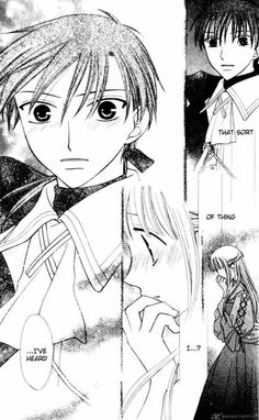 This chapter, chapter 88, was one of the best, it was so funny, and then there was this part in the middle, when Tohru was thinking about Kyo being locked away. Now I want some grilled meat! Fruits Basket