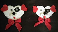 Valentine's Day Dogs! My son and I made these a few years ago for Valentine's Day. So cute and simple.