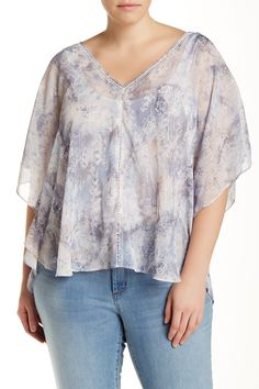 Reece Snow Blouse (Plus Size) by Jessica Simpson on @nordstrom_rack