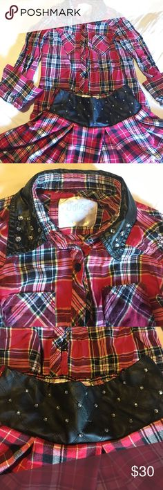 Plaid girls outfit Blingy girls outfit- worn but in very good condition Justice Matching Sets