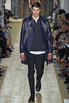 Valentino Men's RTW Spring 2015 - Slideshow Like jacket length and color.