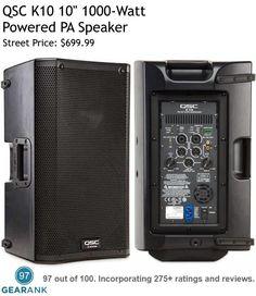 QSC This loudspeaker is one of the highest rated Powered PA Speakers available. Powered Pa Speakers, Audio Speakers, Crown Royal Drinks, St Patricks Day Drinks, Peach Drinks, Audio Engineer, Dj Equipment, Music Gifts, Loudspeaker